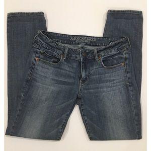 AEO Skinny Stretch blue jeans